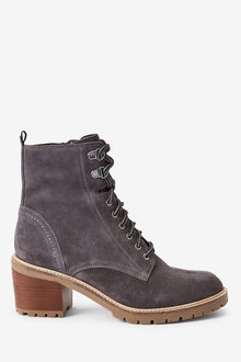 Next Signature Heeled Cleat Lace-Up Boots - 265811