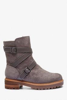 Next Forever Comfort Strap Buckle Boots-Regular - 265831