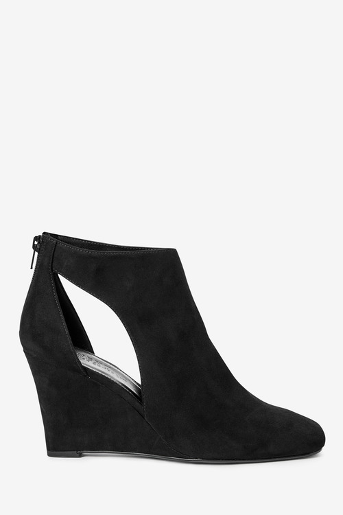Next Forever Comfort Square Toe Wedge Boots
