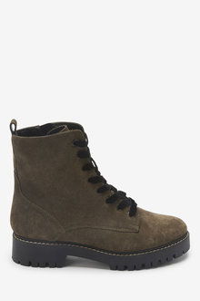 Next Forever Comfort Leather Lace-Up Boots-Regular - 265837