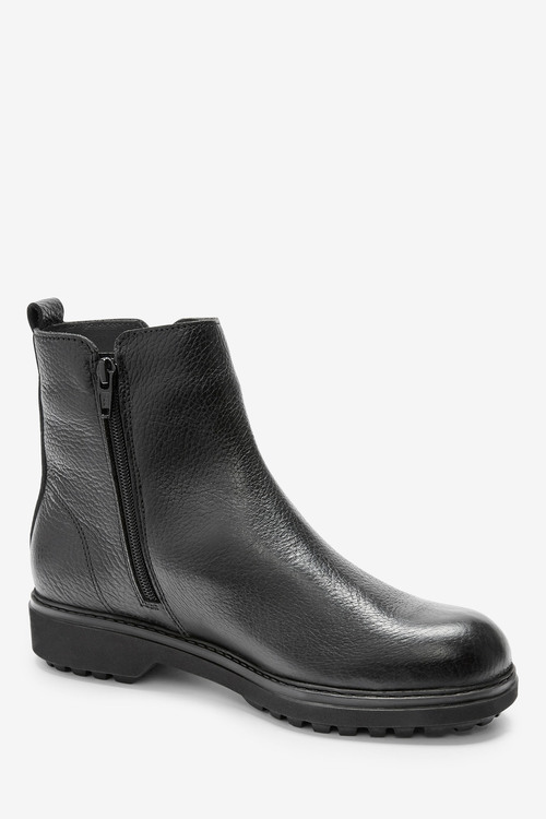 Next Performance Waterproof Signature Leather Zip Detail Boots