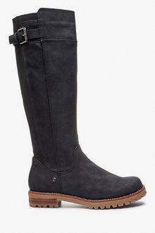 Next Forever Comfort Chunky Knee High Boots-Regular - 265844
