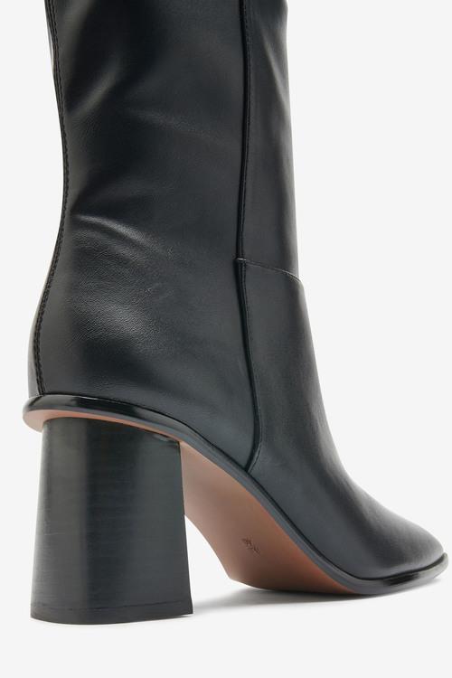 Next Flare Heel Knee High Boots