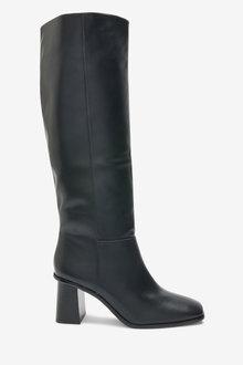 Next Flare Heel Knee High Boots - 265848