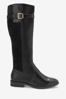Next Forever Comfort Rider Knee High Material Mix Boots - 265849