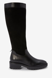 Next Signature Knee High Mixed Material Boots - 265851
