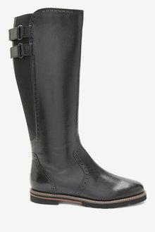 Next Forever Comfort Long Brogue Boots-Regular - 265854