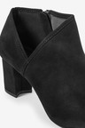 Next Forever Comfort Side V Block Heel Boots-Regular