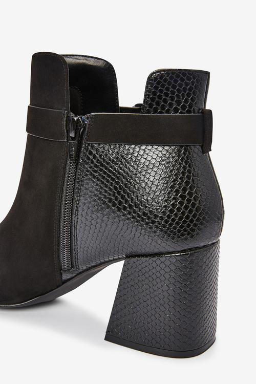 Next Forever Comfort Square Toe Buckle Shoe Boots-Regular