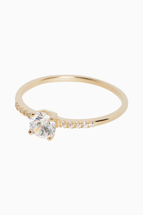 Next 18ct Gold Plated Solitaire Ring