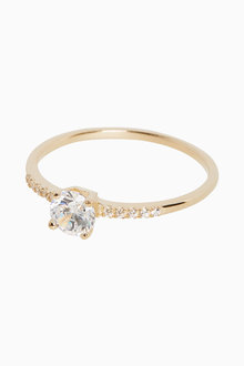 Next 18ct Gold Plated Solitaire Ring - 265962