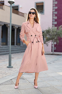 European Collection Belted Trench Coat - 266093