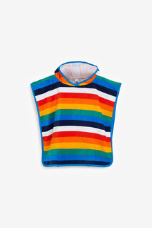 Next Stripe Towelling Poncho (9mths-6yrs) - 266111