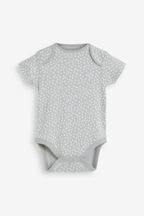 Next 3 Pack RaiNewbornow Supima Cotton Short Sleeve Bodysuits (0mths-
