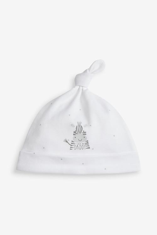 Next 2 Pack Mummy Daddy Slogan Tie Top Hats (5-12mths)