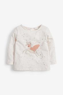 Next Unicorn Long Sleeve T-Shirt (3mths-7yrs) - 266141