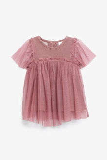 Next Mesh Sparkle Party Top (3mths-7yrs) - 266144
