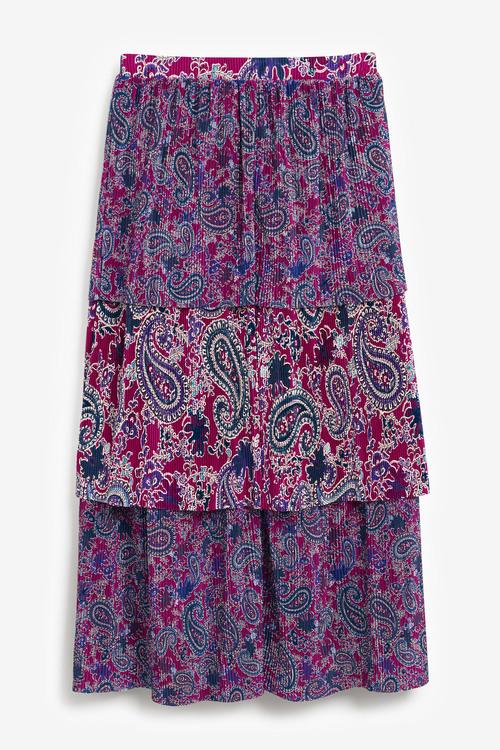 Next Plissé Paisley Skirt - Tall
