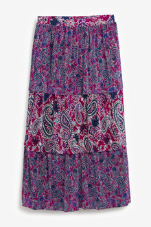 Next Plissé Paisley Skirt - Tall - 266159