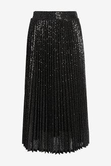 Next Pleated Sequin Midi Skirt - 266161