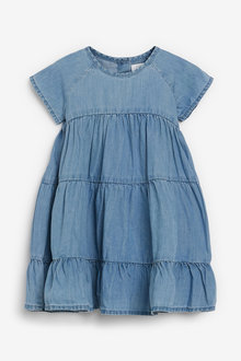 Next TENCEL Tiered Dress (3mths-7yrs) - 266162