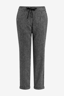 Next Linen Blend Tapered Trousers - Tall - 266169