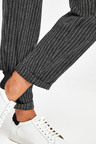 Next Linen Blend Tapered Trousers - Tall