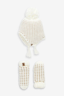 Next 2 Piece Trapper And Mittens Set (Younger) - 266170