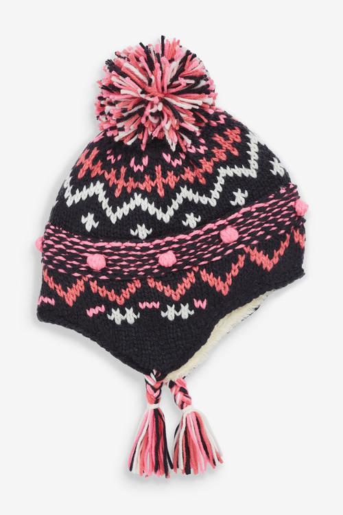 Next Fairisle Pattern Trapper Hat (Younger)