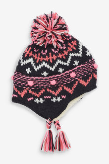 Next Fairisle Pattern Trapper Hat (Younger) - 266173