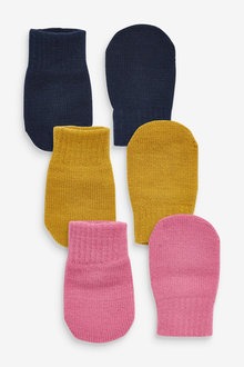 Next 3 Pack Mittens (Younger) - 266174