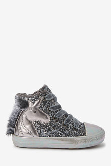 Next Warm Lined High Top Trainers (Younger) - 266199