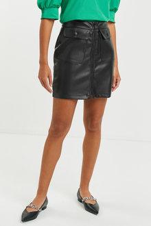 Next Faux Leather PU Mini Skirt - Tall - 266205