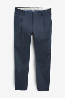 Next Cotton Rich Stretch Pleated Chinos - 266208