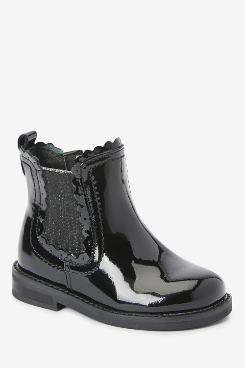 Next Leather Chelsea Scallop Boots (Younger)