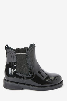 Next Leather Chelsea Scallop Boots (Younger) - 266224