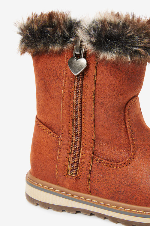 Next Warm Lined Charm Zip Boots (Younger)