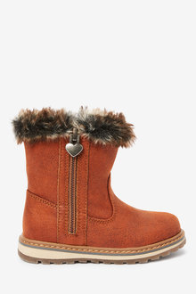 Next Warm Lined Charm Zip Boots (Younger) - 266234