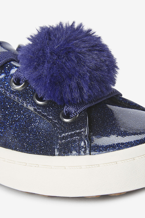 Next Elastic Lace Pom Pom Trainers (Younger)