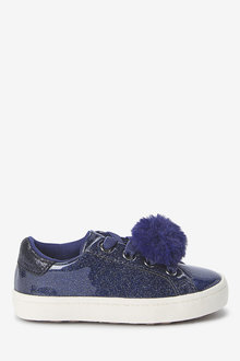 Next Elastic Lace Pom Pom Trainers (Younger) - 266249