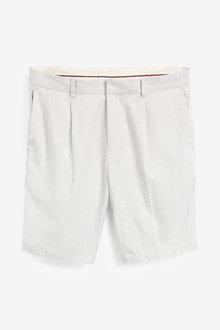 Next Linen Blend Shorts - 266266
