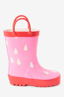 Next Colour Changing Raindrop Handle Wellies (Younger) - 266267
