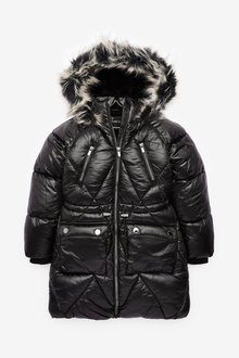 Next Diamond Shower Resistant Quilted Padded Jacket (3-16yrs) - 266278