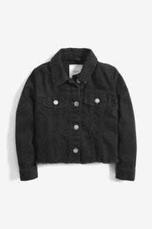 Next Raw Edge Cropped Western Jacket (3-16yrs) - 266287