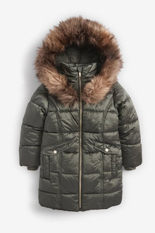 Next Two Tone Shower Resistant Padded Jacket (3-16yrs) - 266293