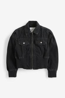 Next Rib Detail Denim Jacket (3-16yrs) - 266304