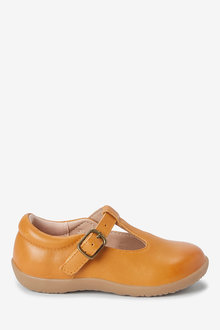 Next Junior Premium Leather T-Bar Shoes (Younger) - 266326
