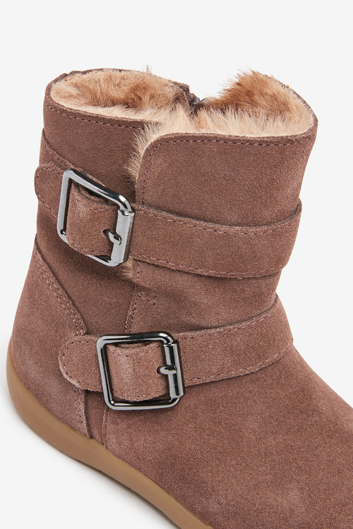 Next Suede Buckle Boots (Younger)
