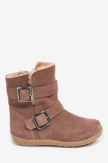 Next Suede Buckle Boots (Younger) - 266329
