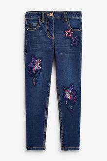 Next Sequin Embellished Jeans (3-15yrs) - 266334
